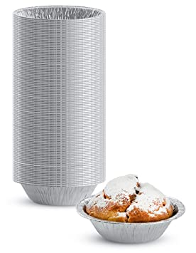 Pack de 50 Desechables Mini sacatestigos Pan de aluminio plata – aprobado por la FDA –