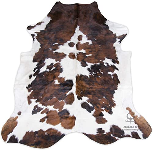 RODEO Cowhide Rug Tricolor XXL