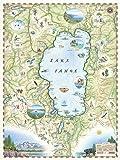 Lake Tahoe Map - Map Art