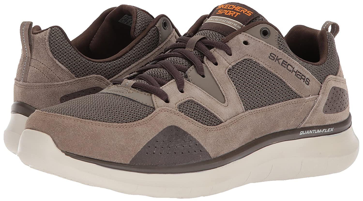 Skechers Quantum Flex Country Walker Men Round Toe Synthetic Gray Sneakers