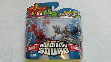 Marvel Superhero Squad Hasbro Series 6 Mini 3 Inch Figure 2-Pack Punisher & Deadpool: Amazon.es: Juguetes y juegos