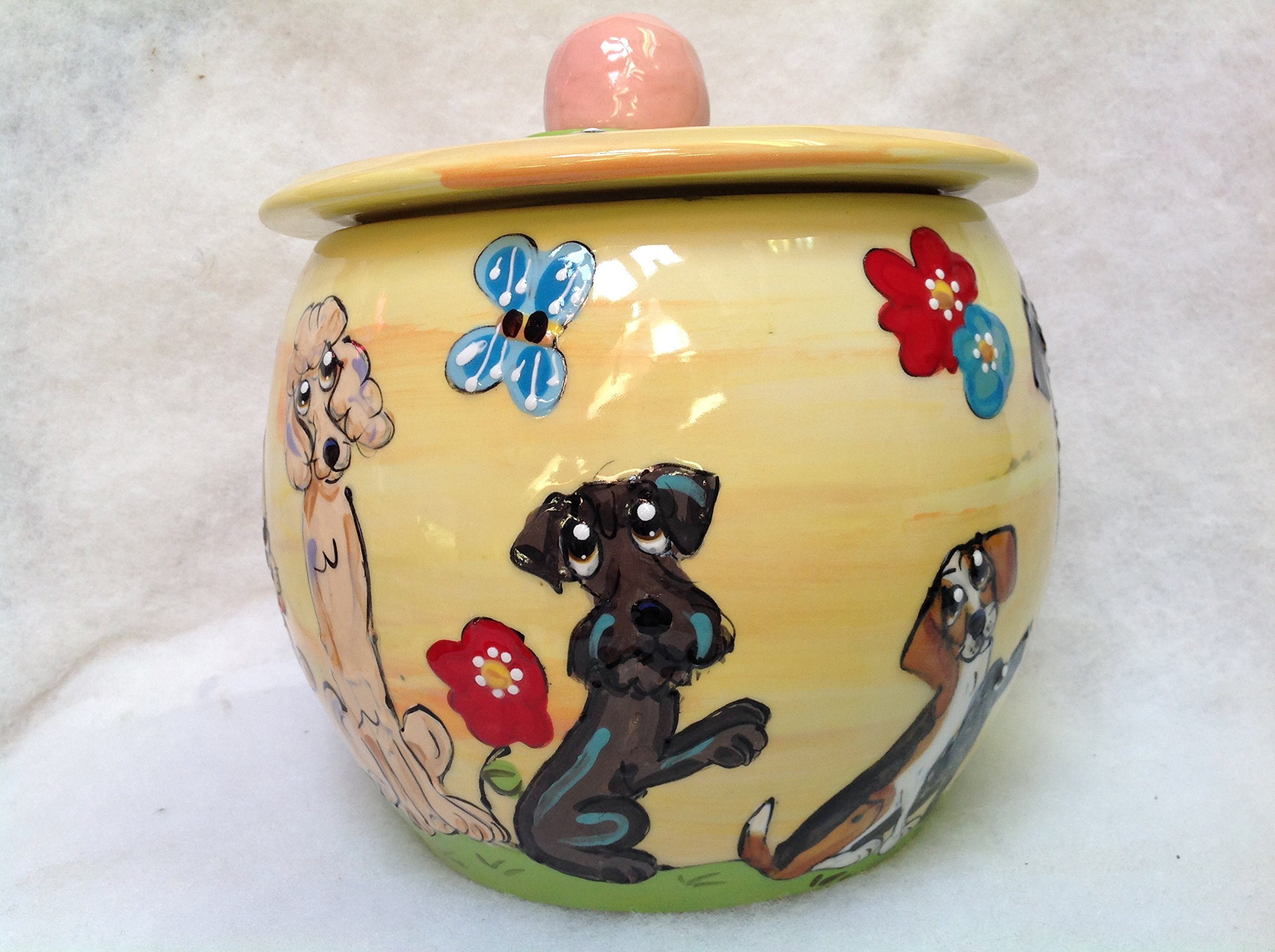 Treat Jar, Schnauzer. Personalized at no Charge. Signed by Artist, Debby Carman. by Faux Paw Productions, Inc., Laguna Beach, CA