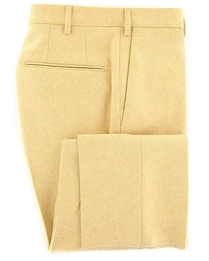Incotex Yellow Melange Wool Pants Slim At Amazon Men S Clothing Store