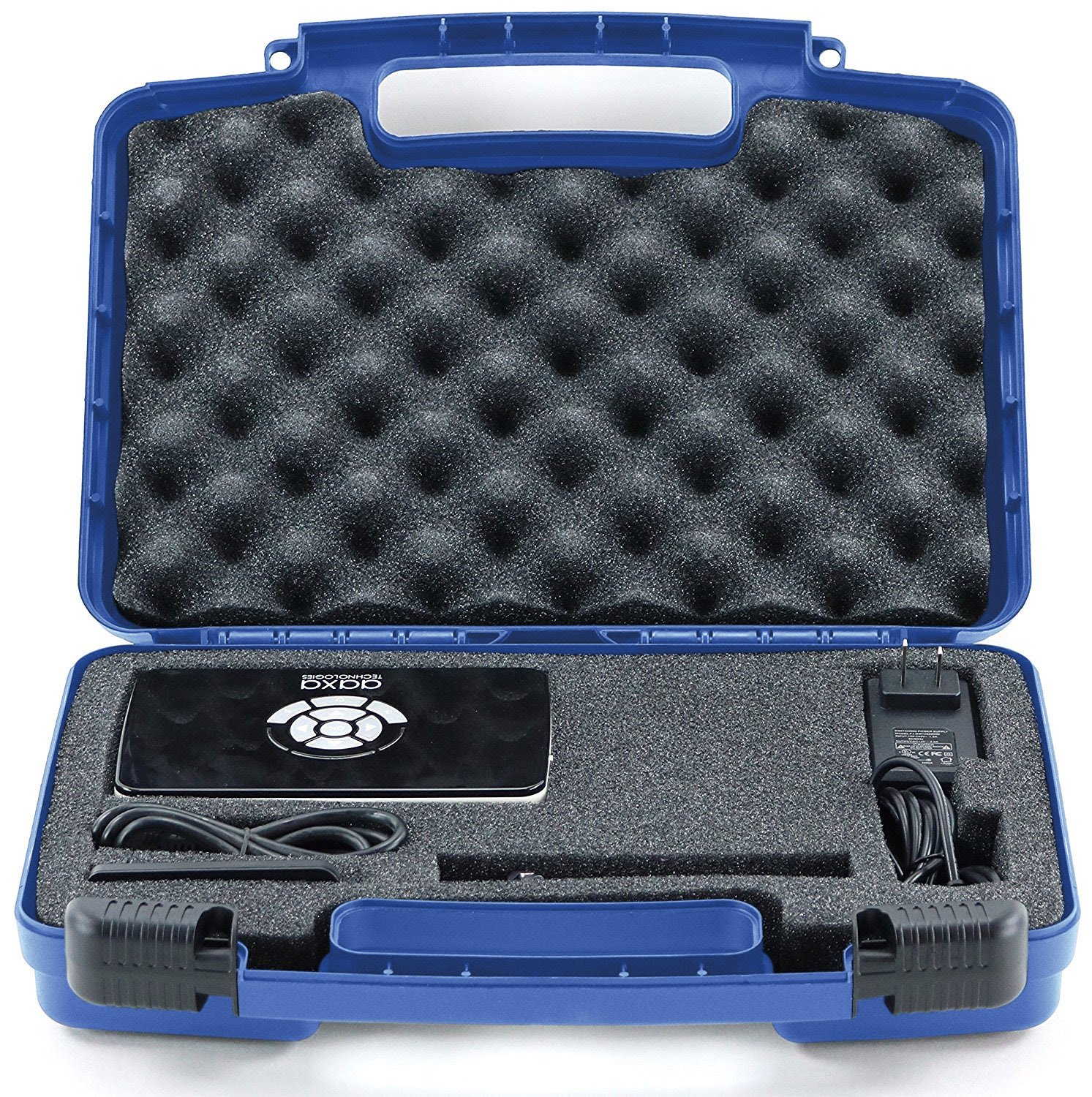 Life Made Better Storage Organizer - Compatible with AAXA P5, P300, P700, P4X, IVATION, Philips, Brookstone Portable Projectors and Accessories - Durable Carrying Case - Blue by Life Made Better