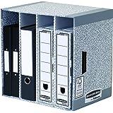 Fellowes 01840EU Module de Rangement 4 Compartiments Banker Box System - Gris (Lot de 5)