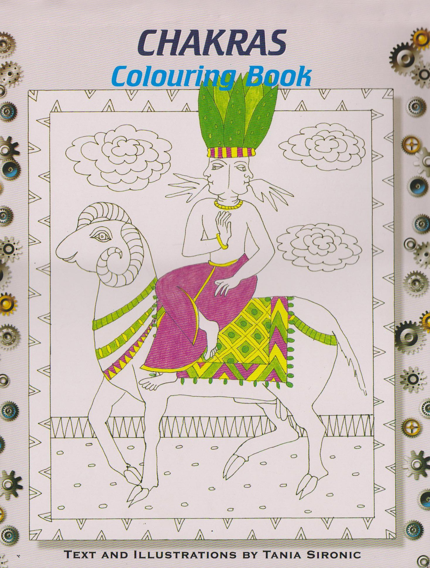 chakras colouring book amazon co uk tania sironic 9788173031403