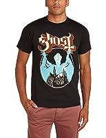 Rock Off Men's Ghost Opus Regular Fit Round Collar Short Sleeve T-Shirt