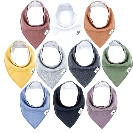 BRAND NEW Lily /& Dan Pack 3 Dribble Bibs 3 Pack mousseline Chiffons . 6 objets au total