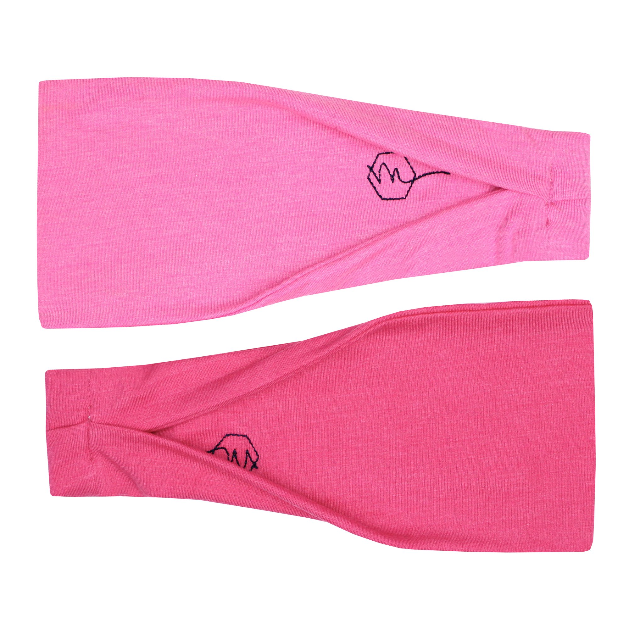 Maven Thread Women's Headband Yoga Running Exercise Sports Workout Athletic Gym Wide Sweat Wicking Stretchy No Slip 2 Pack Set Hot Pink SIREN by by Maven Thread (Image #1)