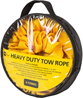 AB Tools Tow Rope//Towing Road Recovery Strap with Two Shackles 4 Metre 8 Ton SM009