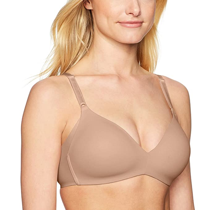 dad510ebff43a Warner s Women s Blissful Benefits No Side Effects Smoothing Wirefree Bra  at Amazon Women s Clothing store