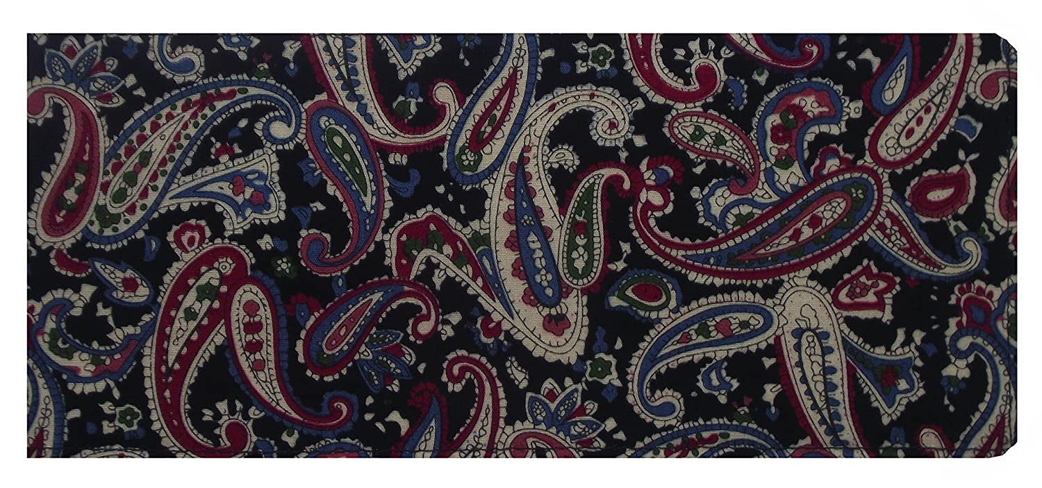 Black Paisley Chequebook Cover MPLCB026
