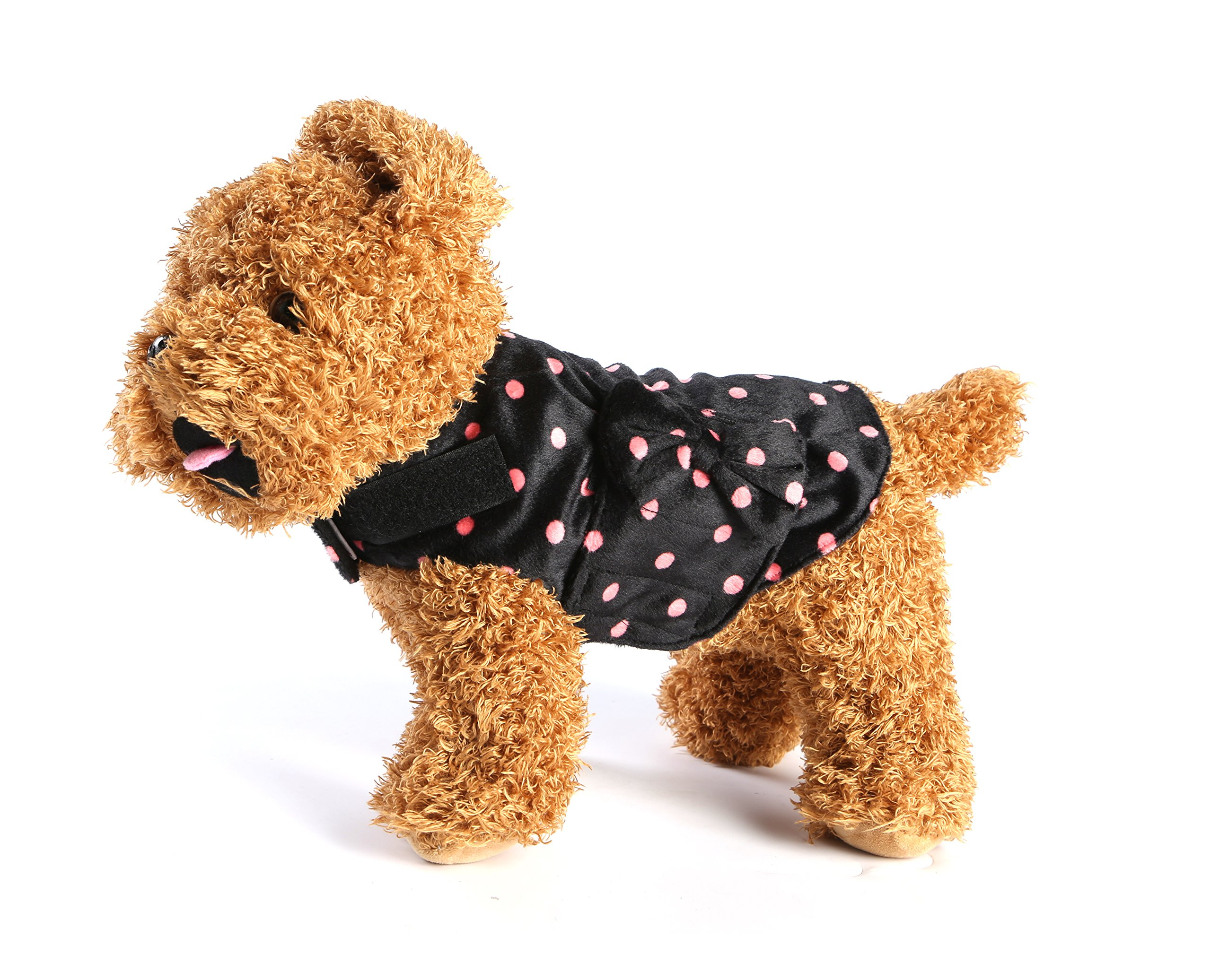 YAAGLE Pet Adjustable Stress Relief Anxiety Jacket Vest Shirt With Bow Tie for Dog Cat