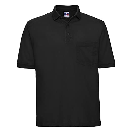 Russell Workwear Mens Heavy Duty Short Sleeve Polo Shirt At Amazon