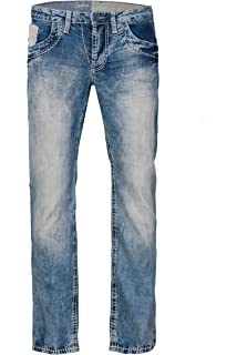 Camp David Herren Jeans Boot Cut NI:CK:R611, Farbe: Blau