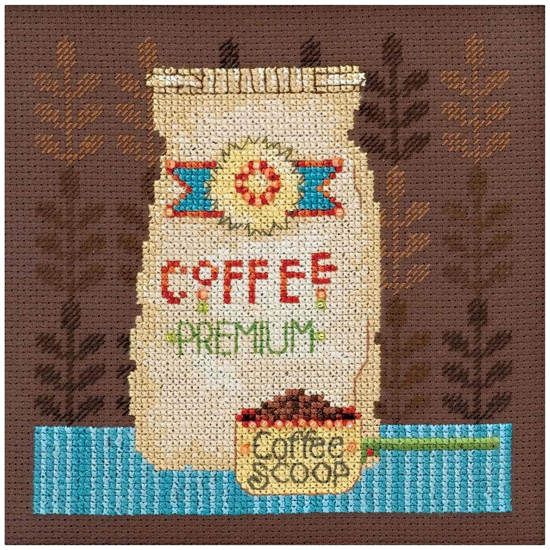 Debbie Mumm Coffee Grounds Counted Cross Stitch Kit-4.75x4.75 16 Count by Debbie Mumm Kits B01BCBOL32