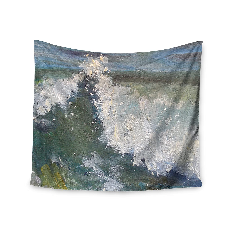 KESS InHouse Carol Schiff The Crest Nautical Painting Wall Tapestry 68 x 80