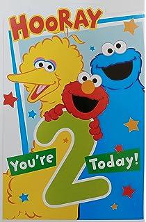 Amazon Com American Greetings Jumbo Elmo Birthday Card Office Products