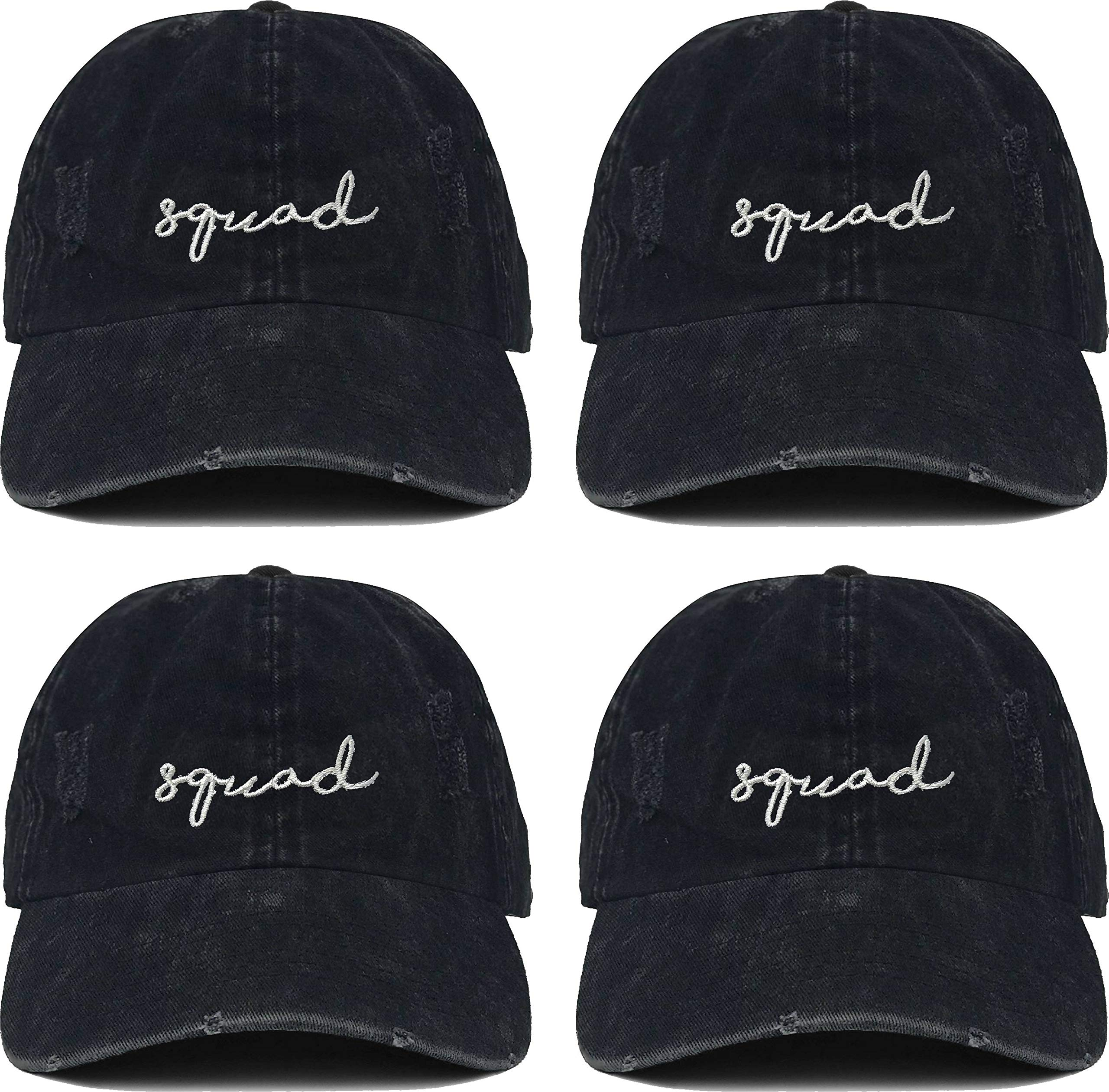 H-214-4-SQUAD06 Bridal Dad Hat Bundle: 4 Squad