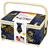 SINGER 07242 Field in Flight Sewing Basket with Notions, Blue