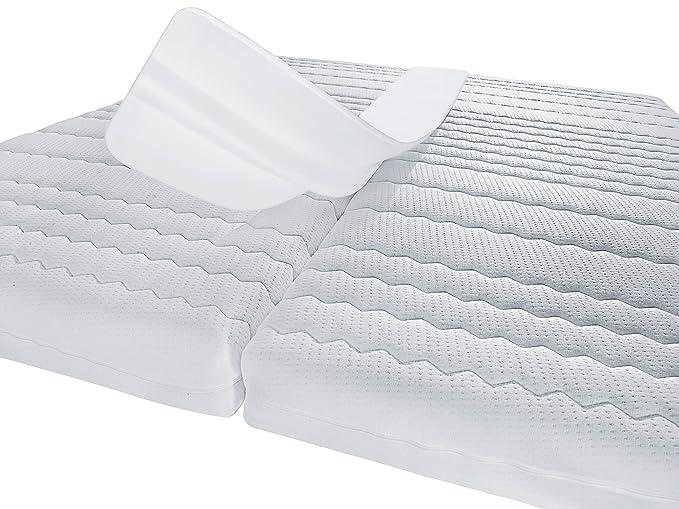 PROCAVE - Cuña Entre colchones de Espuma, 25 x 200 cm, Fabricada en Alemania, para Camas Dobles, Color Blanco: Amazon.es: Hogar