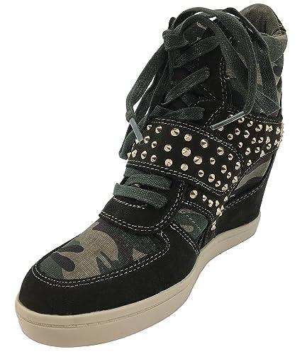 d6ebc3738441 ZIGI SOHO Kick it Up Studded Wedge Heeled High Top Shoe (6)