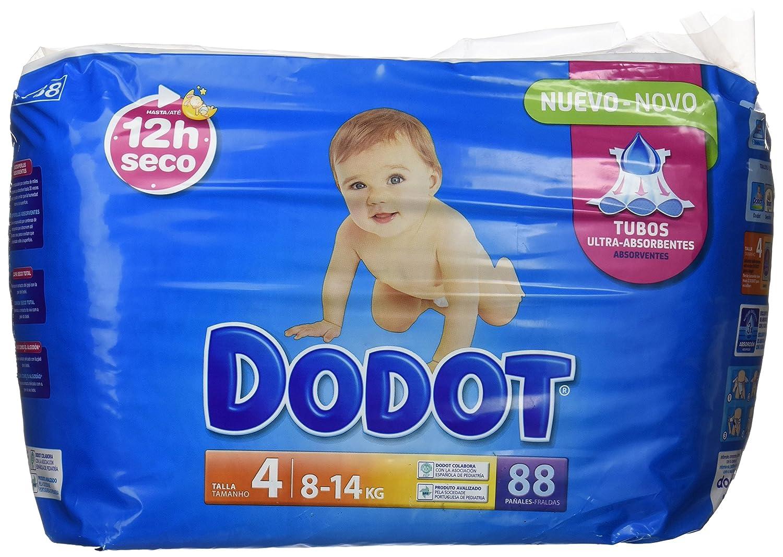 Dodot Pañales Infantiles, Talla 4, 8-14 kg Hasta 12H Seco - 88 Piezas: Amazon.es: Amazon Pantry
