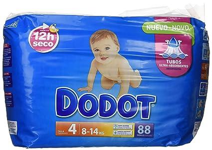 Dodot Pañales Infantiles, Talla 4, 8-14 kg Hasta 12H Seco - 88