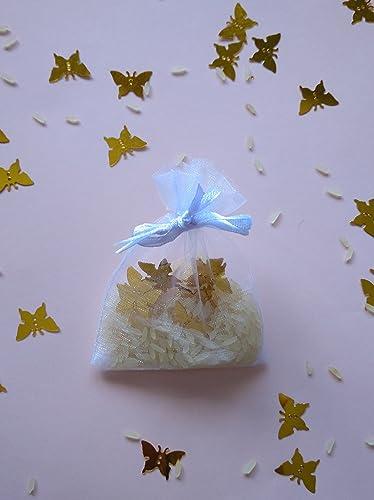 Bolsas de organza de arroz y confeti modelo mariposas para ...