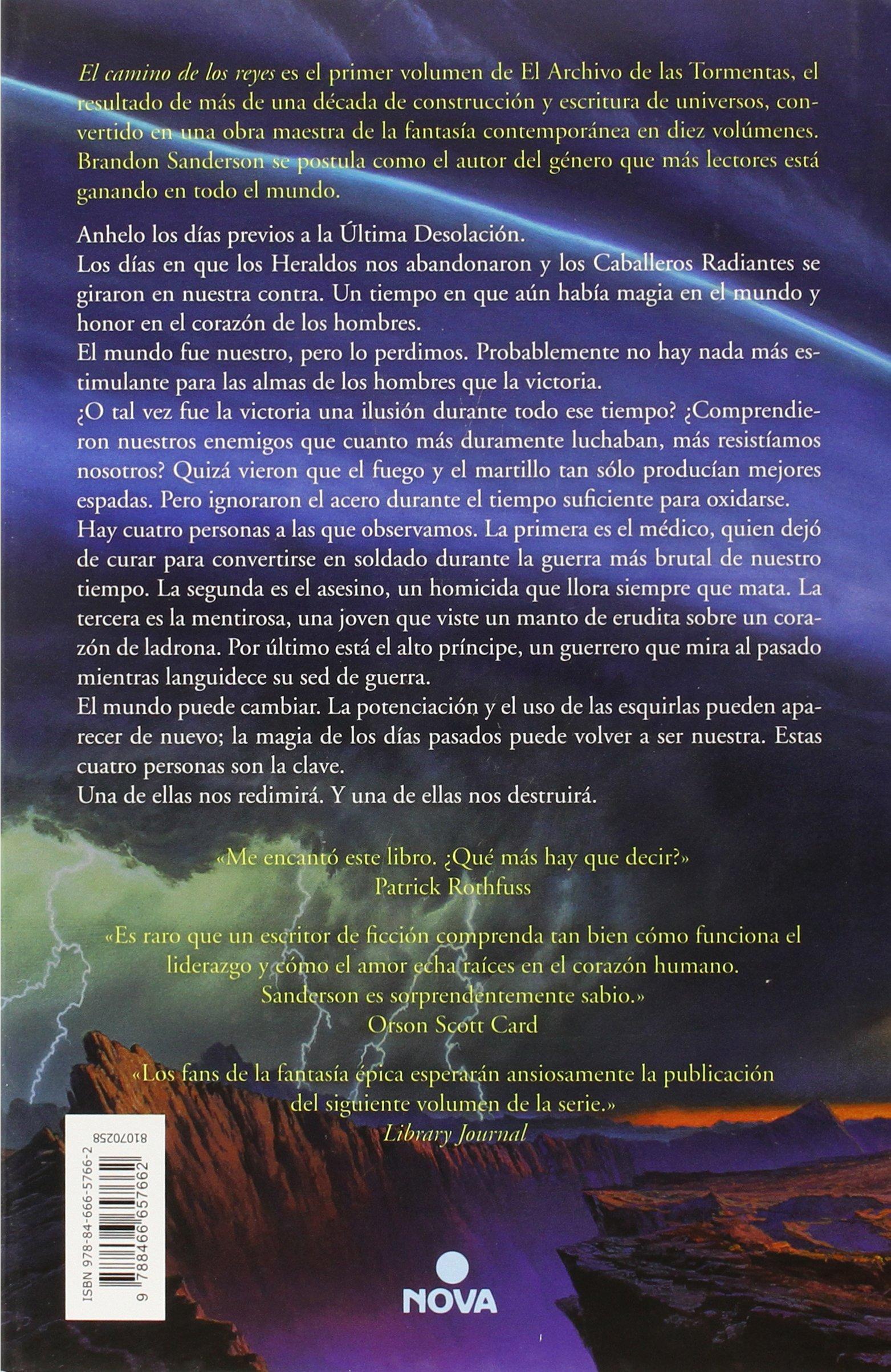 El camino de los reyes El Archivo de las Tormentas 1: Amazon.es ...
