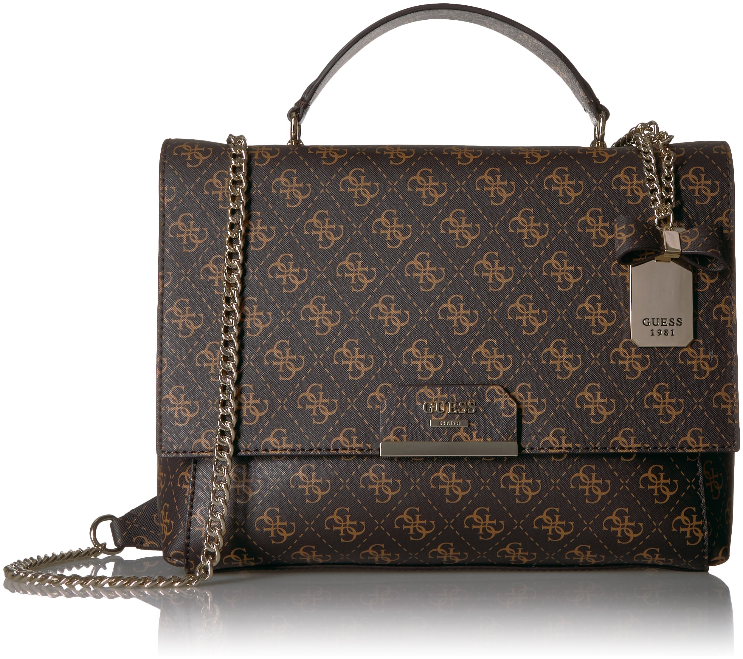 GUESS Ryann Logo Shoulder Bag, Brown by GUESS (Image #1)
