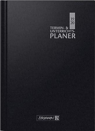Schwarz Chefplaner 2020 Lederoptik Schwarz fast A4 Buchkalender Termin Planer Timer