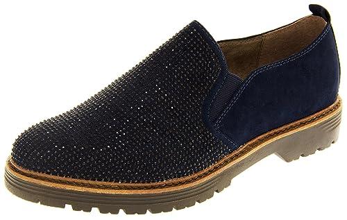 Marco Tozzi Mujer Gamuza Sintética Diamante Mocasines Zapatos Planos: Amazon.es: Zapatos y complementos