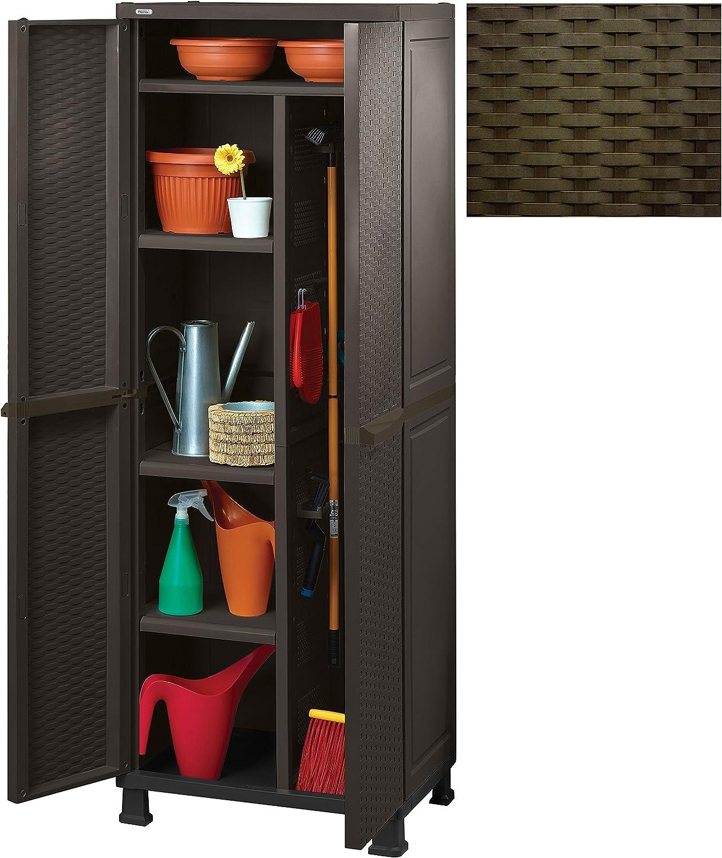 Gabinete keter cm.65x45x184h p / alcance de brown