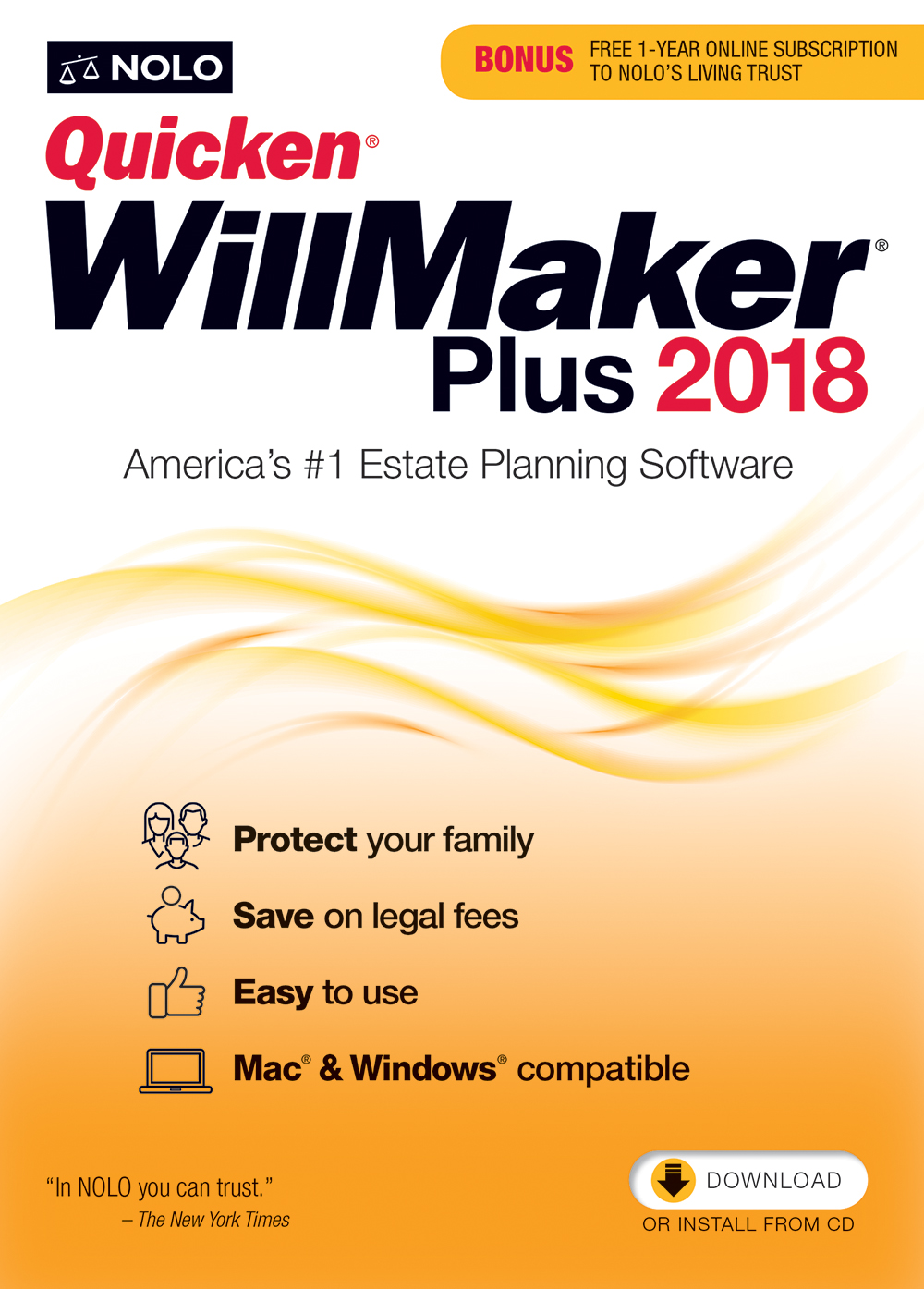 : Quicken WillMaker Plus 2018 (Mac and Windows) [Online Code]