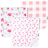 """Baby Burp Cloth Large 21''x10'' Size Premium Absorbent Triple Layer 3 Pack Gift Set """"June"""" by Copper Pearl …"""