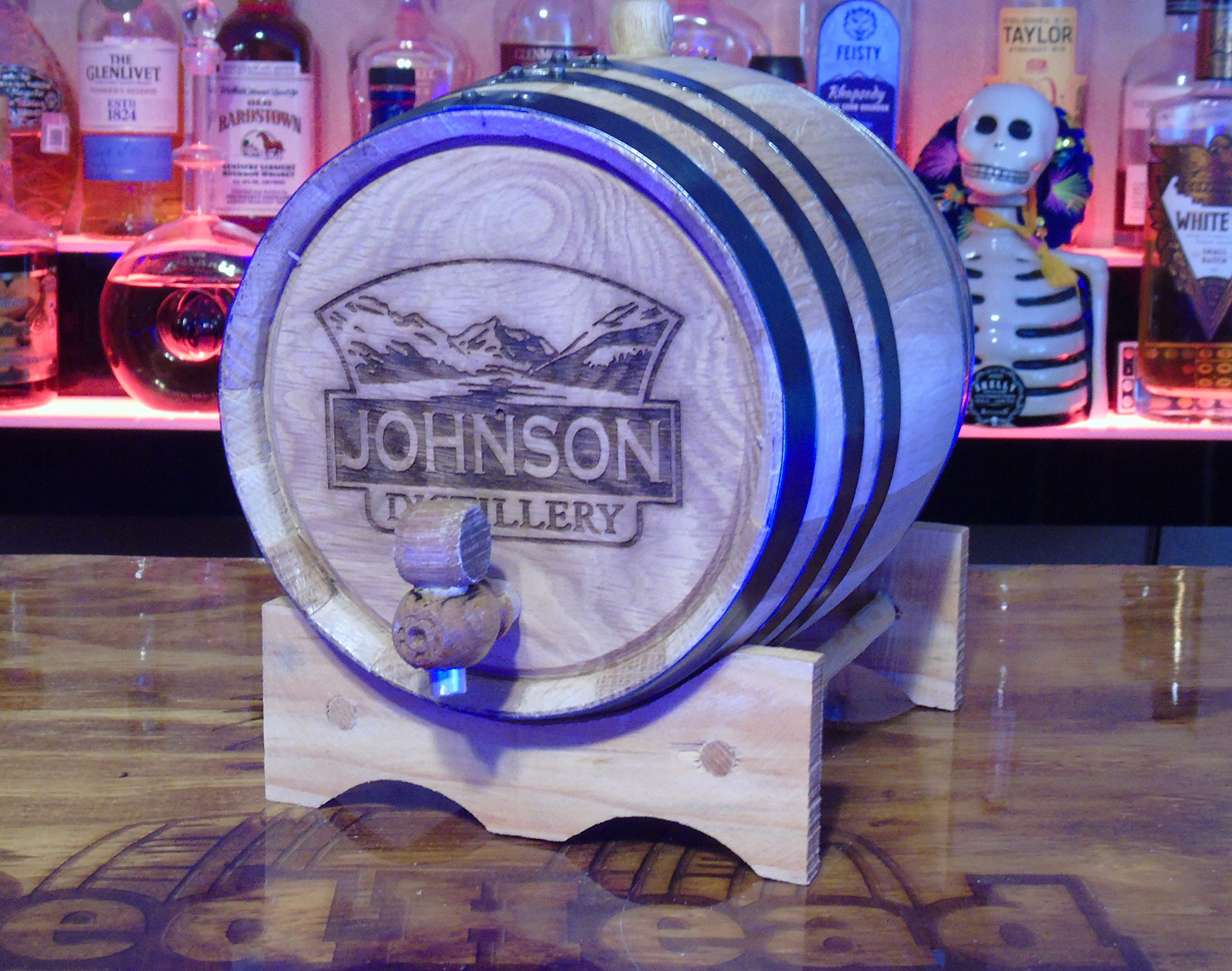 Personalized Engraved White American Oak Aging Barrels RHB141 (2 Liter) by Red Head Barrels (Image #2)