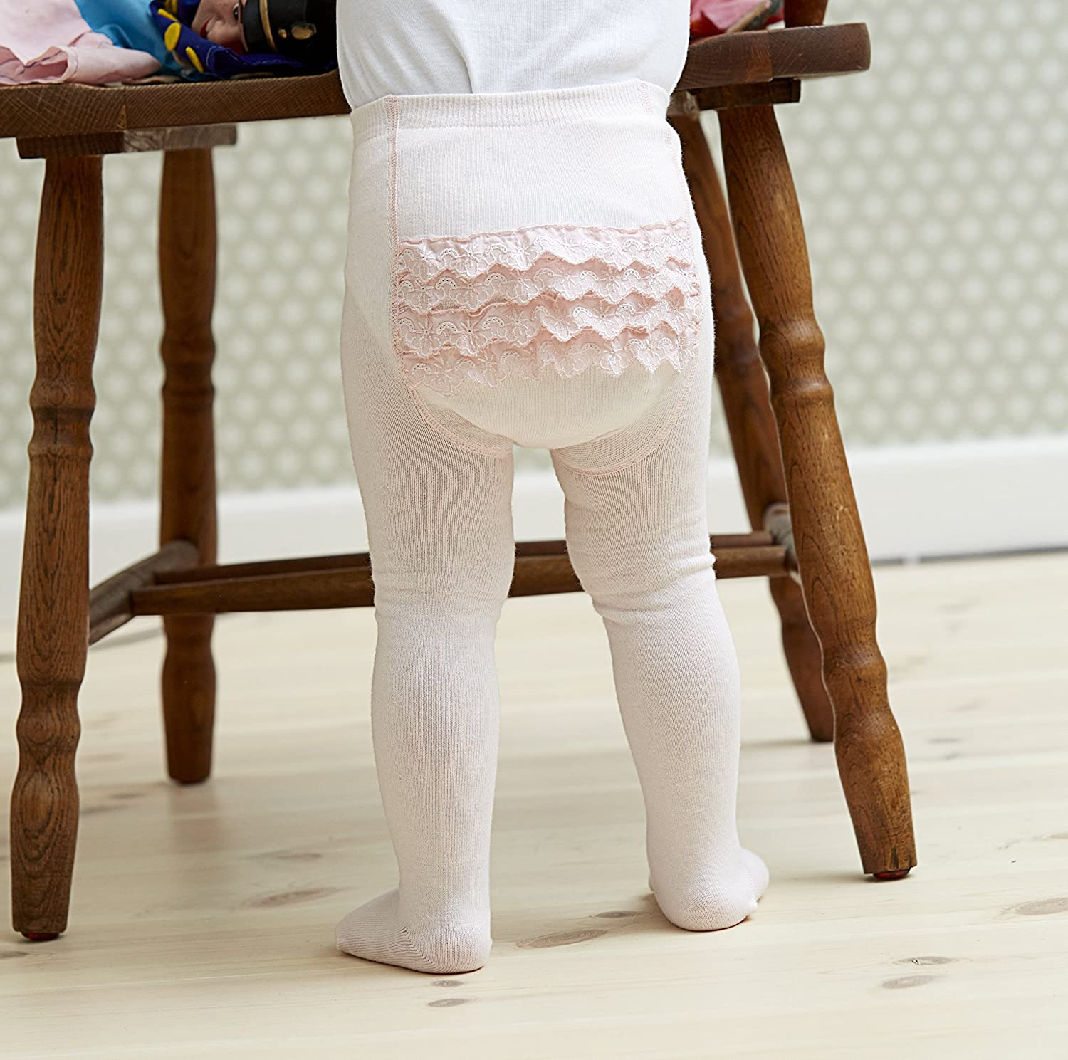 Melton Baby Girl Tights with Ruffles