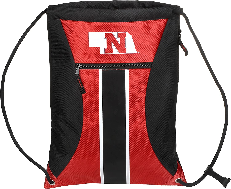 FOCO NCAA Unisex-Adult Big Stripe Zipper Drawstring Backpack