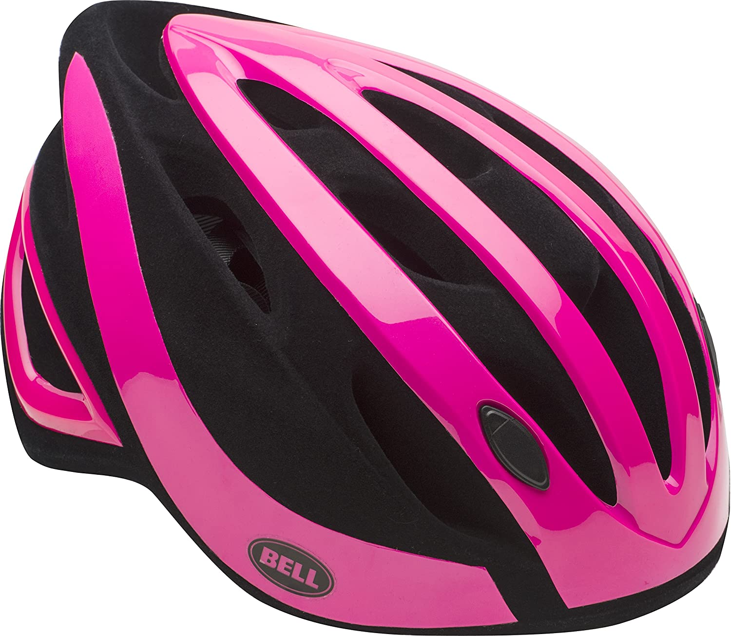 Amazon.com : Bell Adult Impel Bike Helmet, Gloss Pink/Black Flocked : Sports & Outdoors