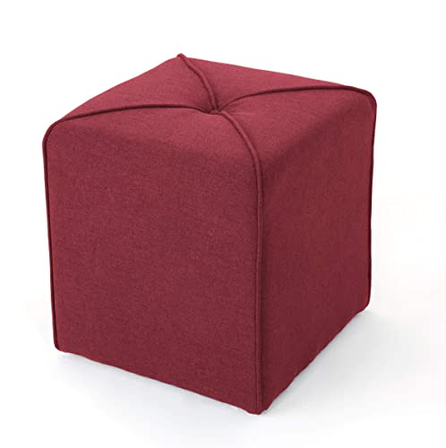 Christopher Knight Home Kenyon Fabric Square Ottoman