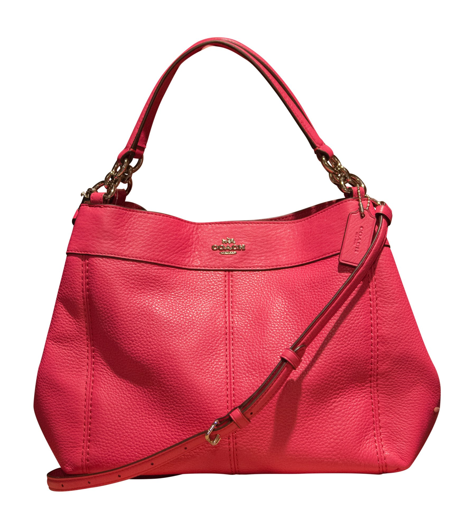 Coach Pebbled Leather Small Lexy Shoulder Bag, Magenta