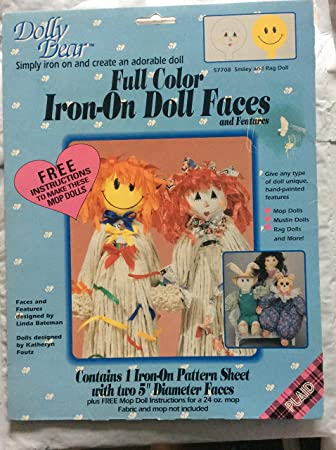 Doll iron on transfer with instruction
