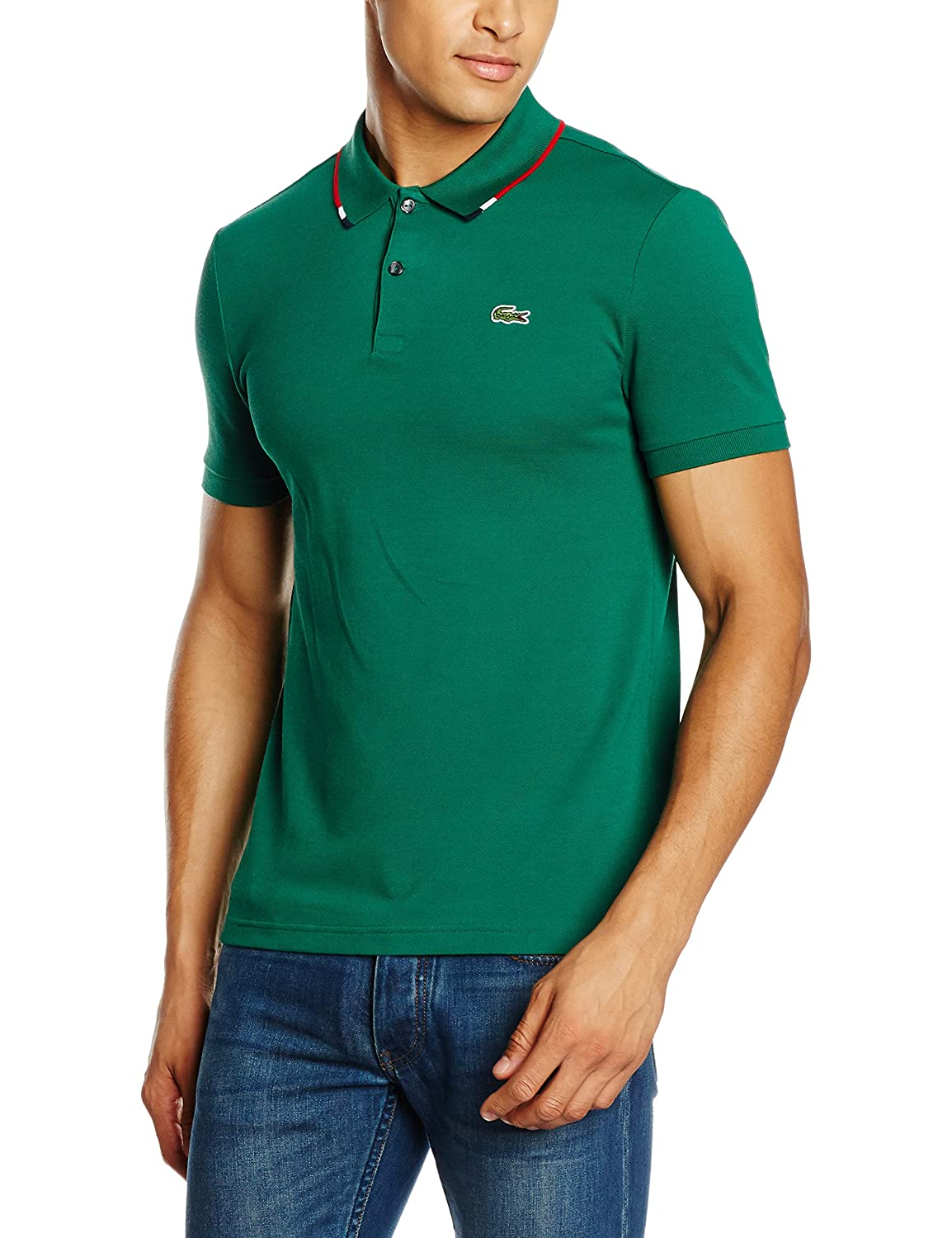 Lacoste L!VE Ph9194-00, Polo para Hombre, Green (Bouteille/Marine ...