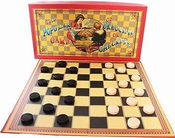 Juego de Damas de House of Marbles Popular Retro Juego de Mesa: Amazon.es: Juguetes y juegos