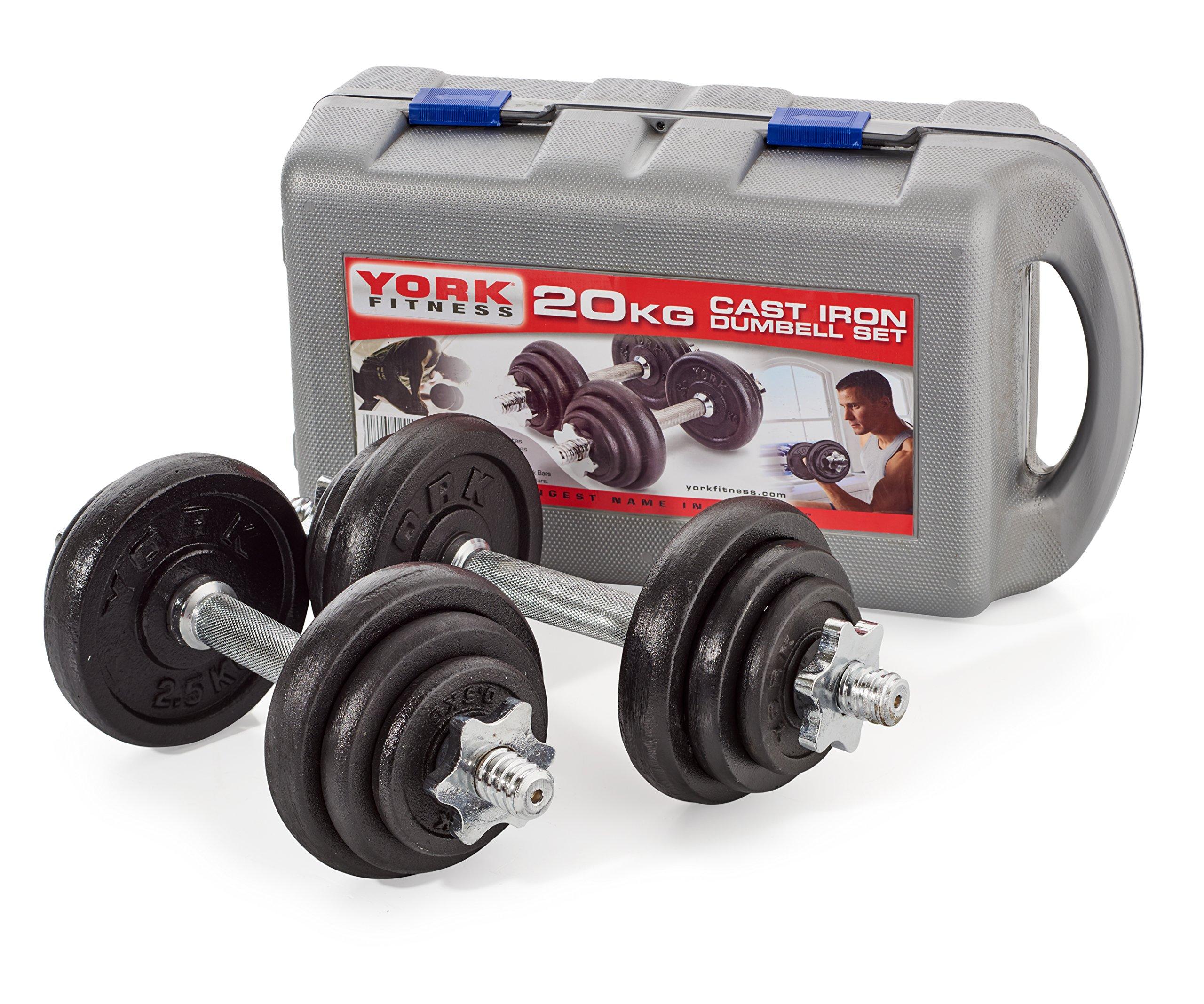 York Fitness - Set de 2 mancuernas 10kg/u product image