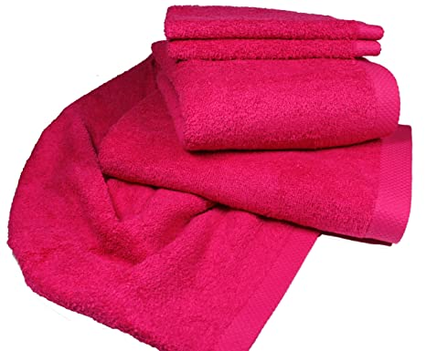 PURE LASA INTERNACIONAL toallas Serie Uni, Rosa, toalla de baño 100X150 cm