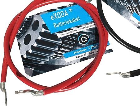 Exoda Batteriekabel Set 35 Mm 100cm Kupfer Stromkabel Mit Ringösen M8 Rot Und Schwarz Auto