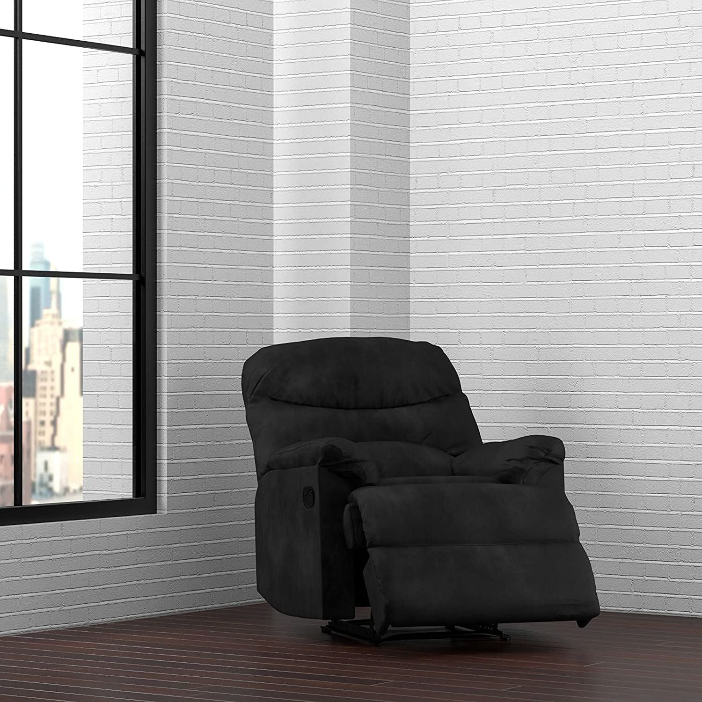 amazoncom prolounger wall hugger recliner chair in black  - amazoncom prolounger wall hugger recliner chair in black microfiberkitchen  dining