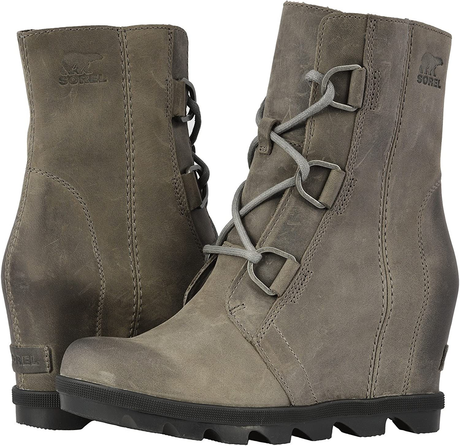 New Sorel Womens Joan of Arctic Wedge ll Boot Waterproof Leather Rain Fashion